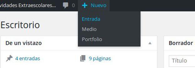 cómo publicar una entrada en WordPress - tuto vapcorp