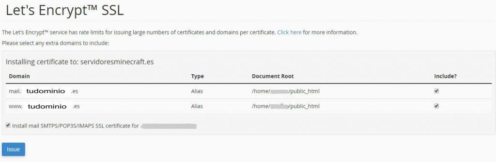 instalar certificados Let's Encrypt facil desde cpanel (4)